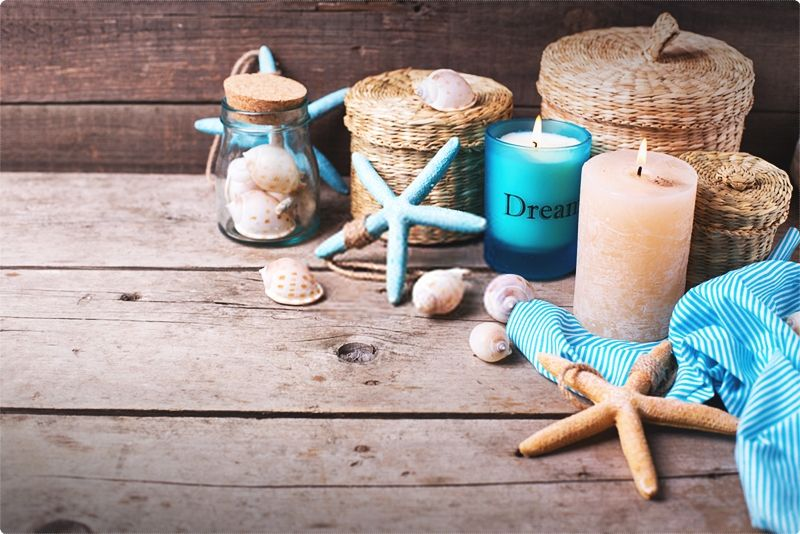 Coastal decor - nautical decor. It will take you from your hectic day and bring you back to the memories of relaxing in the sand and basking in the sun. #coastaldecor